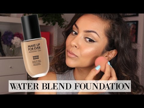 Makeup Forever Water Blend Foundation First Impression Review - TrinaDuhra