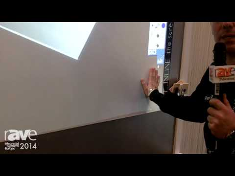 ISE 2014: ScreenLine Presents Interactive White Board Projection
