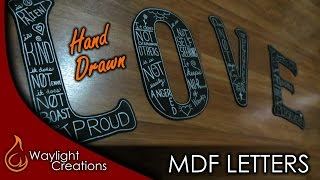 Make Hand Drawn MDF Letters - Wall Art