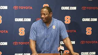 Syracuse coach Dino Babers responds to the teams selection to the Camping World Bowl in Orlando