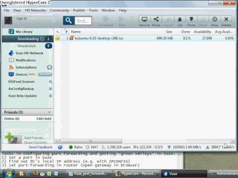 Vuze / Azureus : configure port forwarding