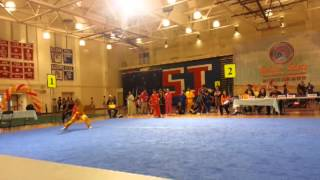 Hmoob kid compete wushu kung-fu