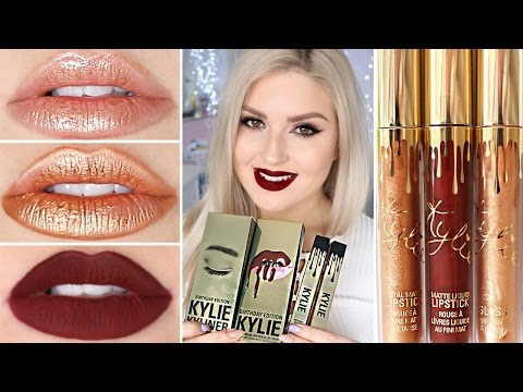 Kylie Cosmetics Birthday Collection 2017 >> Kylie Cosmetics Birthday Collection ♡ DUPES, Swatches & Review 3GP Mp4 HD Free download