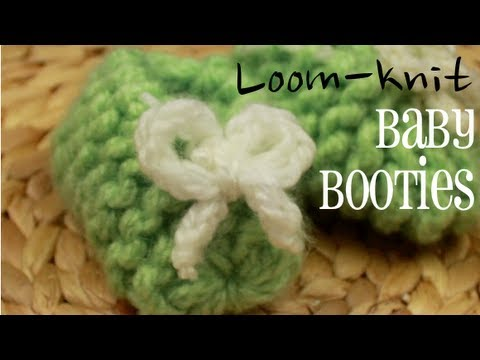 Loom-knit Baby Booties! (Easy!)