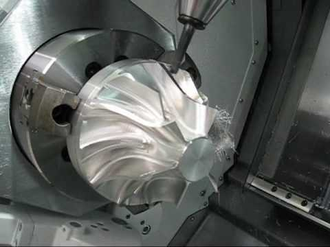 Mazak Integrex 200-IV S Impeller blade 5-axis Gibbscam
