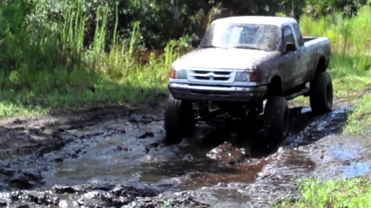 Jacked up Ford Mud Trucks Jacked up Ranger Mudding at