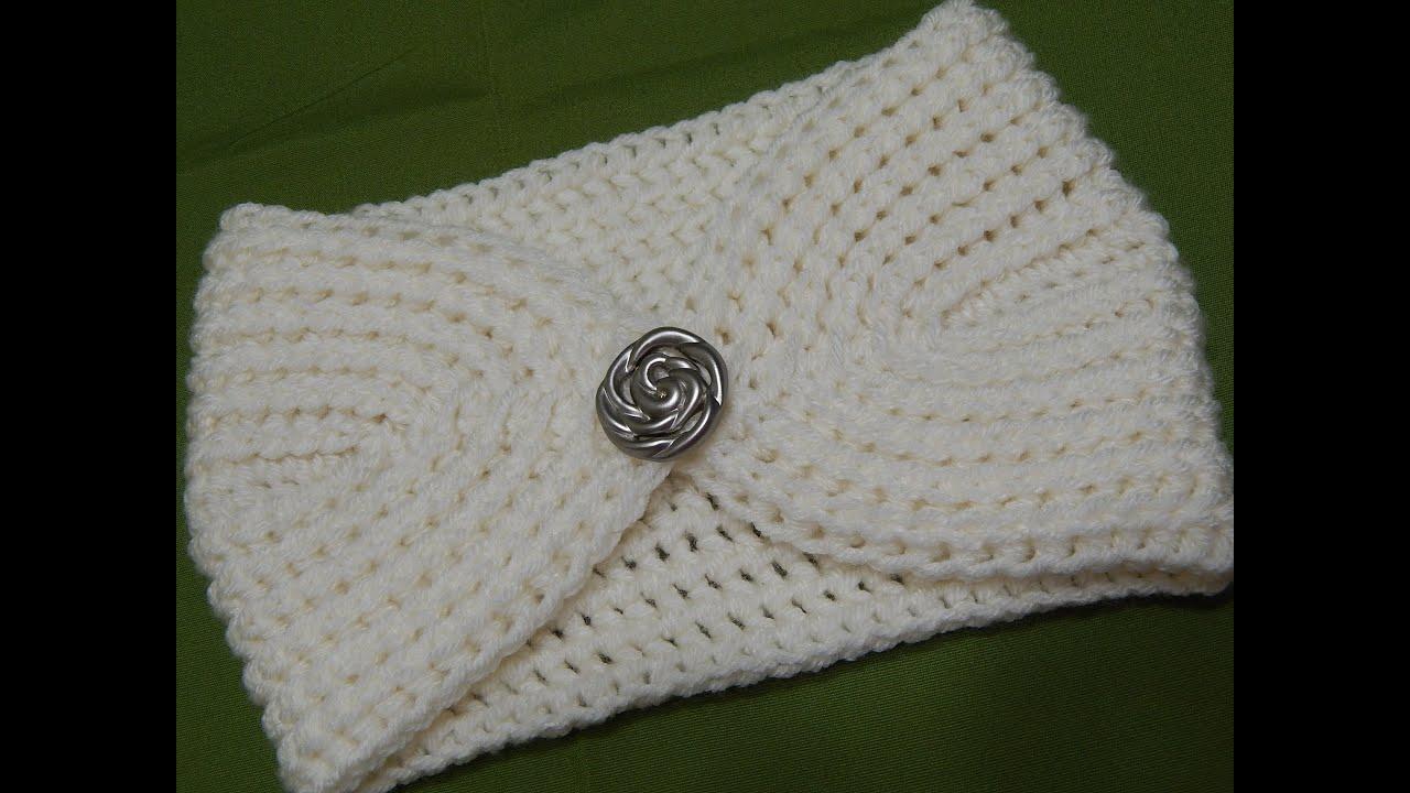 Tejido facil y abrigador crochet youtube - Diademas de ganchillo ...