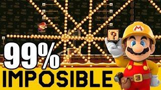 UN SALTO MÁS PERFECTO QUE CELL!! 😲 - NIVELES 99% IMPOSIBLES #63   Super Mario Maker - ZetaSSJ