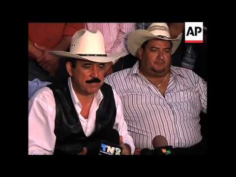 Zelaya's presser at the border of Nicaragua and Honduras