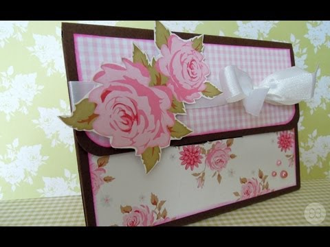 C mo hacer una caja carpeta para fotos tutorial scrapbook youtube - Album para guardar fotos ...