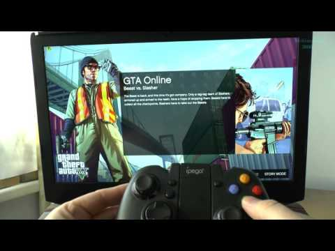 Ungoxing iPega PG-9021 Bluetooth 3.0 Gamepad Controller and testing GTA 5
