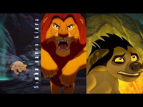 Simba saves Kiara from hyenas (FANMADE)