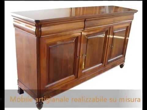 ... antico in legno massello di noce realizzabile su misura - YouTube