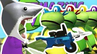 SHREDDER FROG vs TEENAGE MUTANT NINJA FROGS - Amazing Frog - Part 105 | Pungence