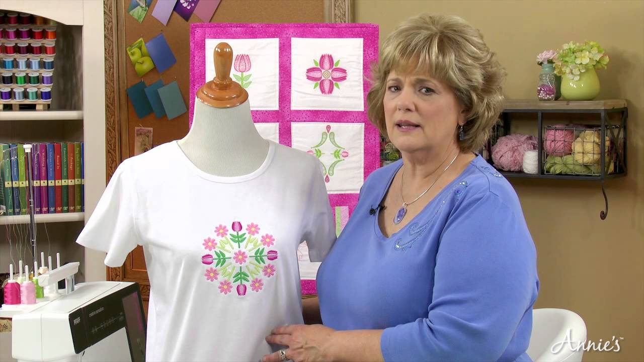 learn how to machine embroider with annie s online classes