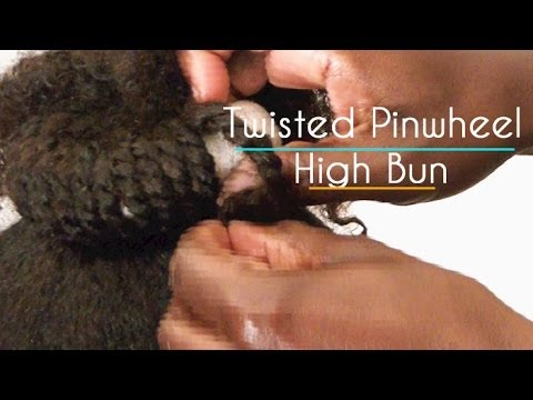 Twisted Pinwheel High Bun