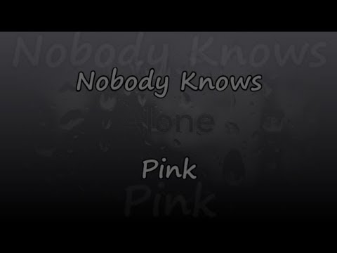Nobody Knows - Pink - Lyrics & Traductions