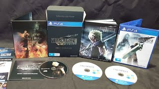 Unboxing: Final Fantasy VII Remake Deluxe Edition for PS4