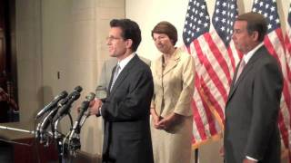Republican Whip Eric Cantor speaks after the weekly GOP Conference (June 9, 2009)