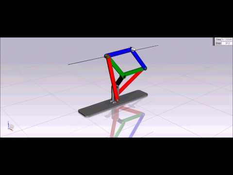 How Peaucellier Straight Line Motion Mechanism Works