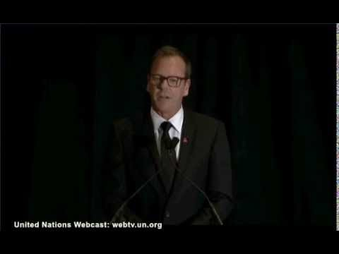 Kiefer Sutherland at UN Women's 'HeForShe' 2014.9.20