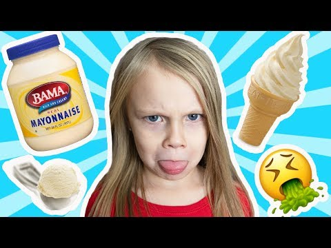 MAYONNAISE ICE CREAM JOKE ON DAUGHTER! *reaction*