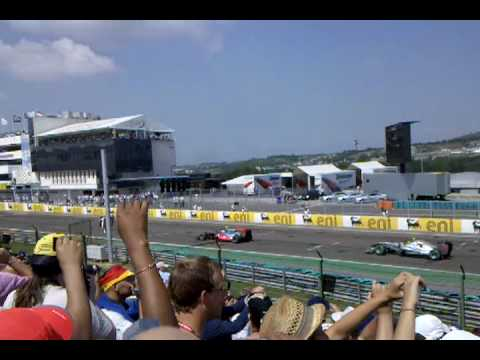 F1 2010 Hungaroring Start Red Bull Tribune
