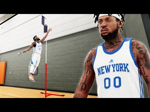 "NBA 2k16 My Career Gameplay Ep. 21 - LIVE PRACTICE! Melo Won't Participate - 40"" Vert?!"