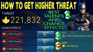 Injustice 2 Mobile. How To Get Highest THREAT. Best Talents and Chance Effects for Maximum Threat.