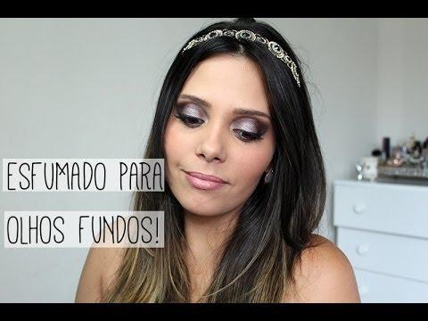 Tutorial de Maquiagem: Esfumado para Olhos Fundos - YouTube