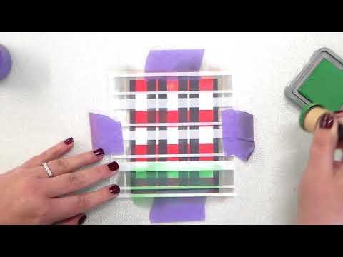 4 Piece Plaid Stencil Set Demo