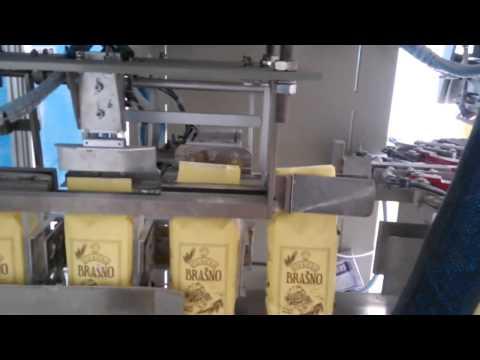 Автоматическая линия фасовки муки в бумажные пакеты