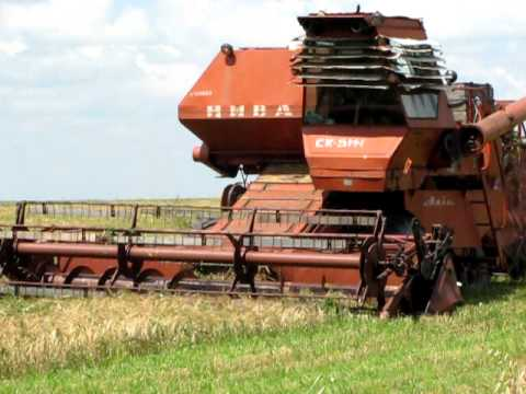 Комбайн Нива СК 5 М1 Combainas niva Sk 5 M1 harvester Music Videos