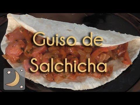 Como Hacer Guiso de Salchicha - Receta de Guisado de Salchichas
