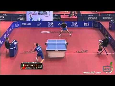 Zhang Jike vs Mihai Bobocica[Slovenia Open 2012]