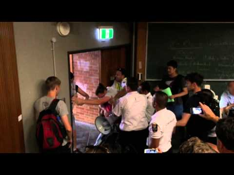BDS PROTEST AT UNIVERSITY OF SYDNEY 11/3/15