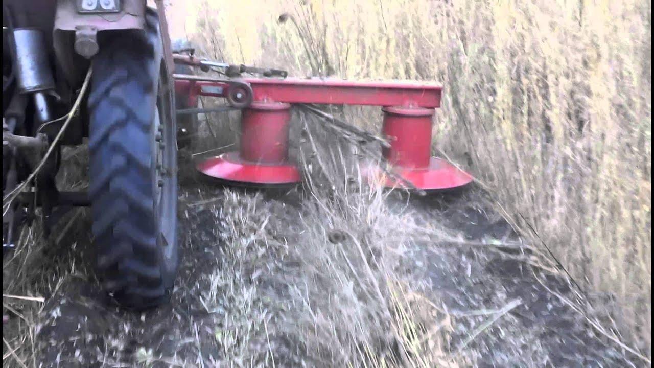 Т16 косилка - YouTube