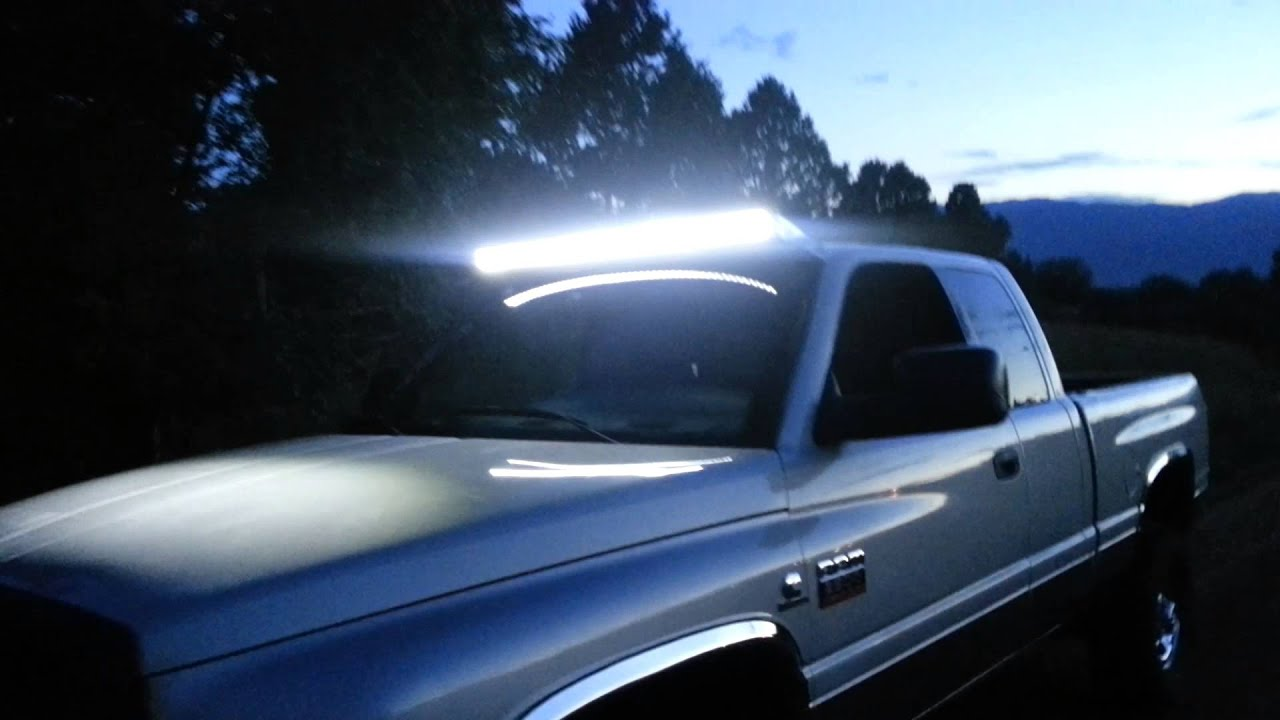 52 Quot Light Bar On A 99 Cummins Youtube