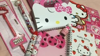 [Alışveriş] Hello kitty kore kırtasiye / Hello kitty haul