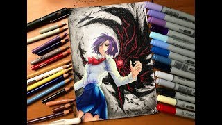 Speed Drawing - Touka Kirishima (Tokyo Ghoul) [HD]