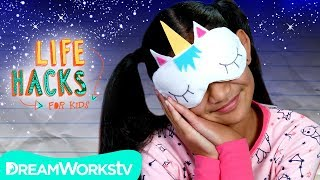Unicorn Sleeping Mask + More Bedtime Hacks | LIFE HACKS FOR KIDS