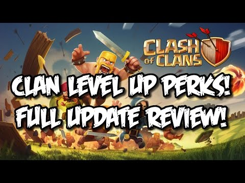 CLASH OF CLANS NEW UPDATE FULL REVIEW! LEVEL 13 CANNON + CLAN PERKS COC 2015 NEW CLANS UPDATE!