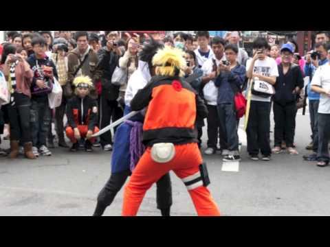 台北西門cosplay快閃演出《火影忍者劇場版:忍者之路》電影宣傳