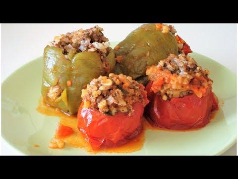 Фаршированный перец и помидоры - Рецепт времен Султана Сулеймана. Османская кухня/DOLMA