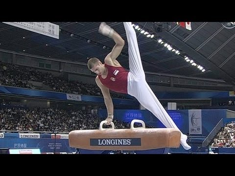 Krisztian Berki defends Pommel Horse Title