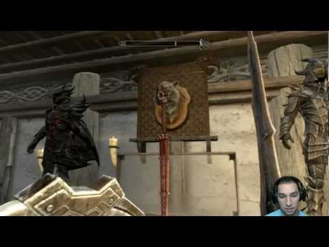 How to put weapons into display cases (Skyrim Armory) (Xbox 360)