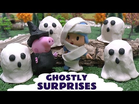 Peppa Pig Halloween Play Doh Disney Movie Ghostly Surprises Pocoyo Thomas The Tank Diesel Pepa