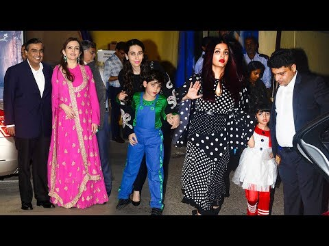 Bollywood Celebs With Kids At Their School Ambani International Annual Day 2017 -Aishwarya,Aaradhya