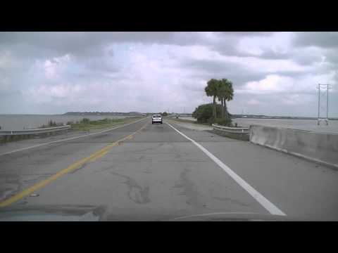 Eastpoint, FL to Apalachicola, FL dashboard cam video -- June 12, 2013