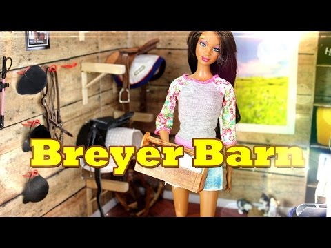 DIY - How to Make: Doll Breyer Horse Barn : Tack and Feed Room - Handmade - Doll - Crafts